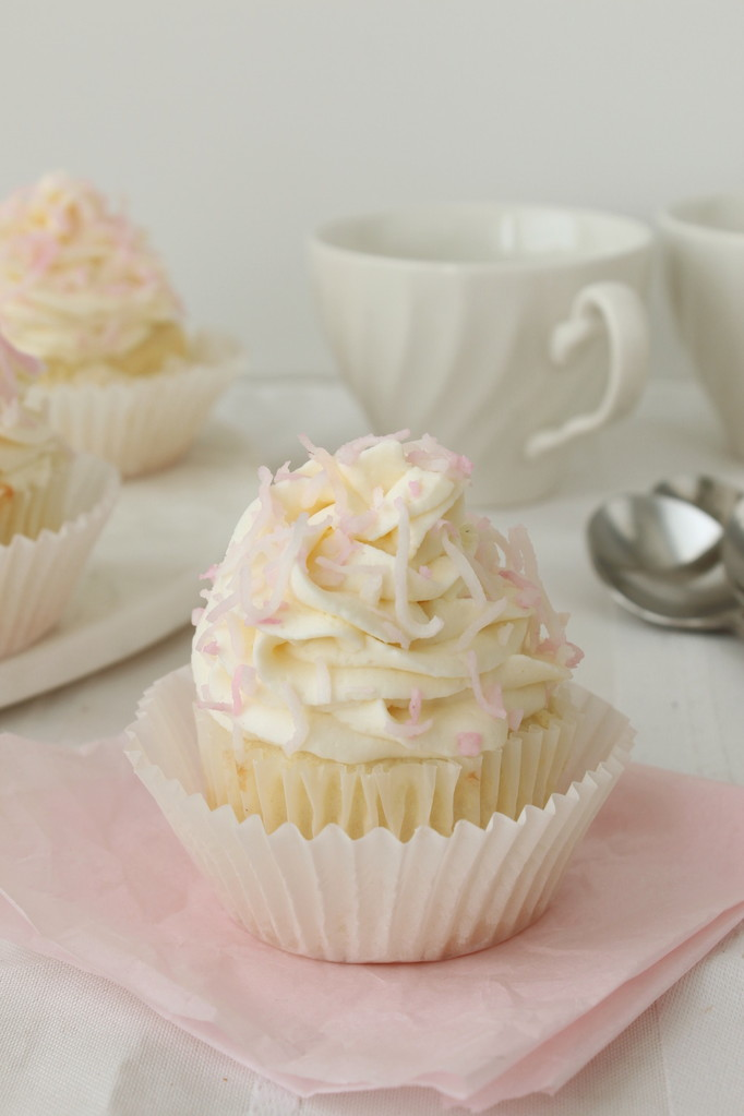 Coconut Cupcakes - Cinnamon and Toast
