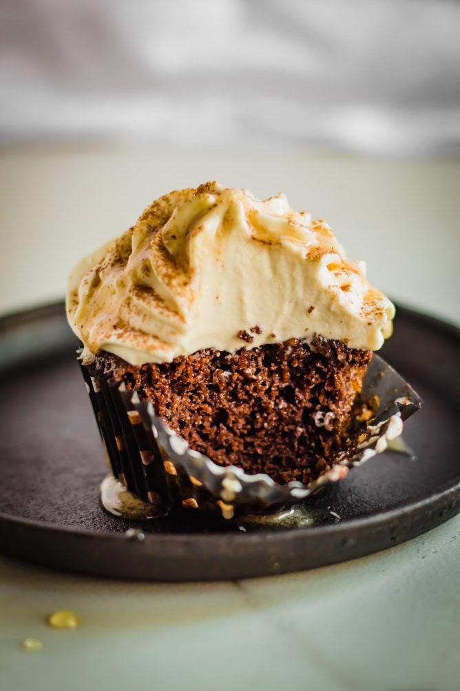 Chocolate Cupcakes with Coconut Cream