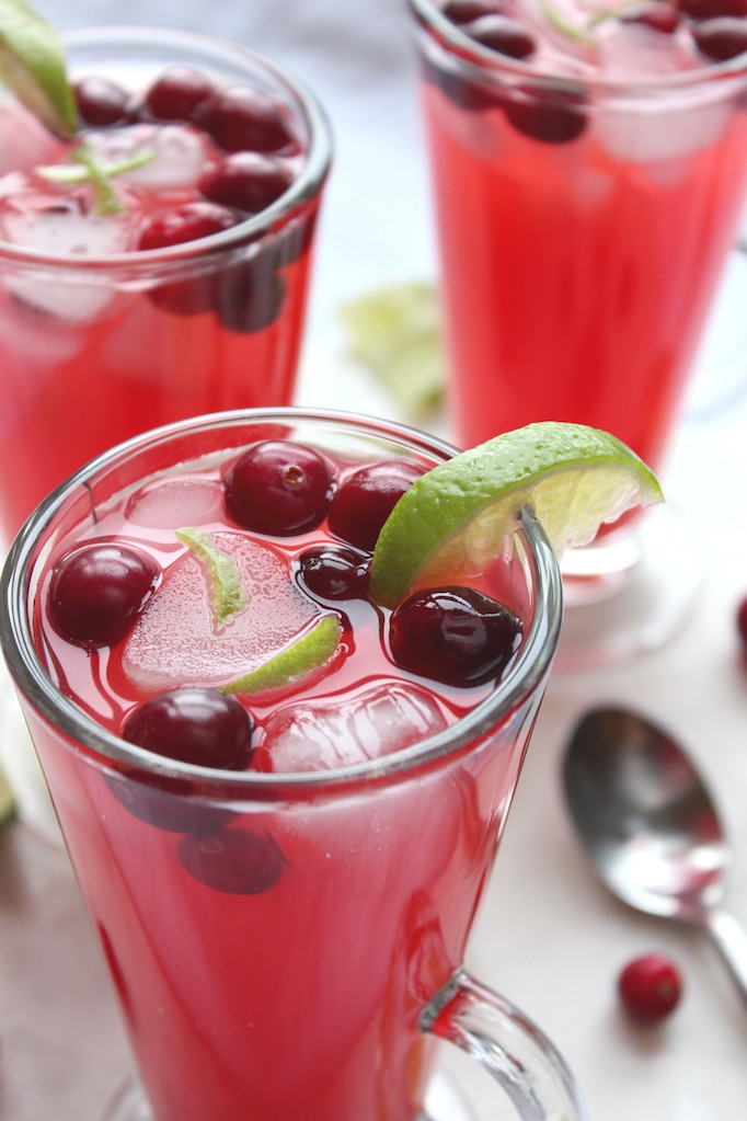 Cranberry Water with Lime